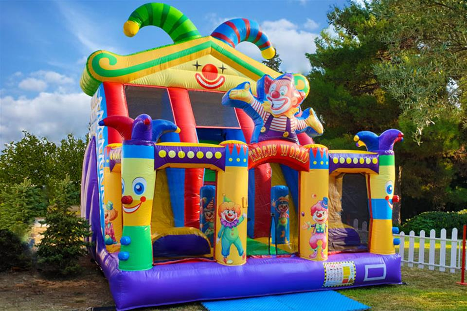 Double inflatable Slider Clowns - rentals by Air Game