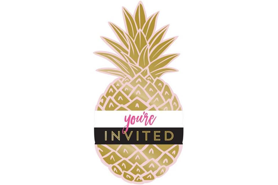 Pineaple invitation Boutique Party Shop