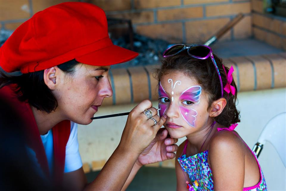 Face painting baptism Triki Fun