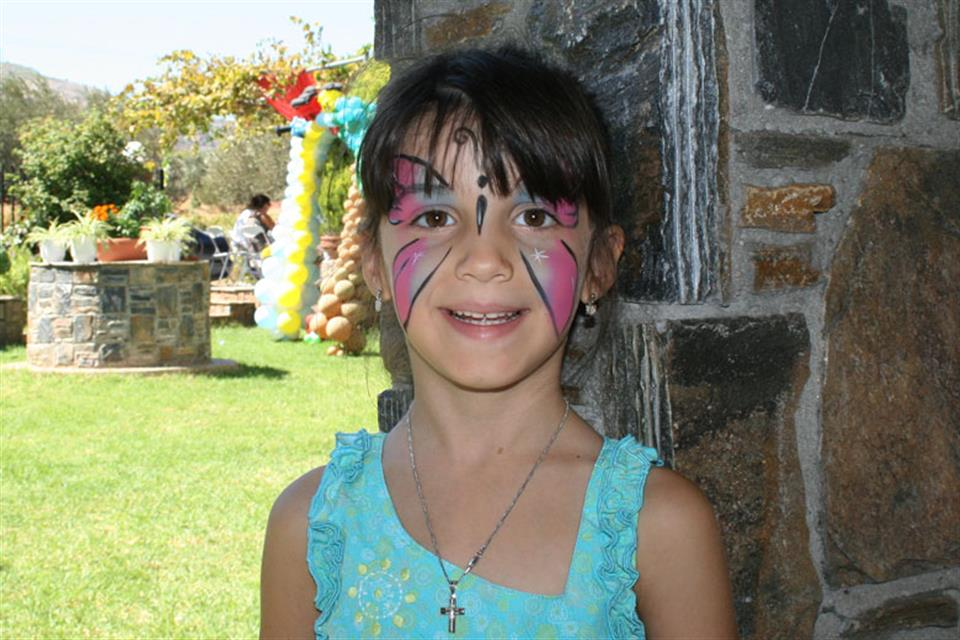 Face painting butterfly Triki Fun
