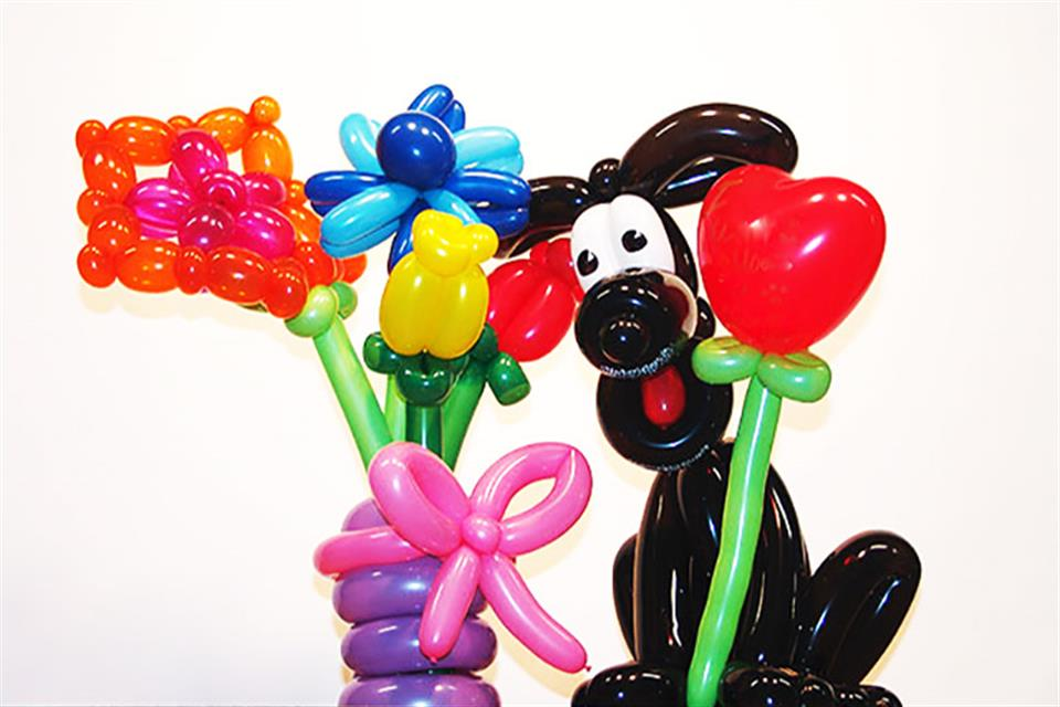 Balloon Dog Flowers Triki Fun